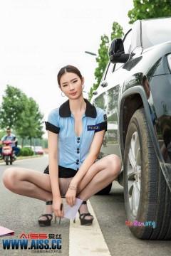 AISS爱丝第61期 长腿女警cosplay制服诱惑 64P