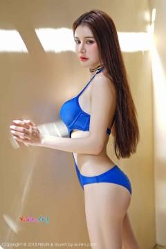 [FEILIN嗲囡囡] VOL.018 高冷傲娇美女Cheryl青树比基尼水着高清写真 48P