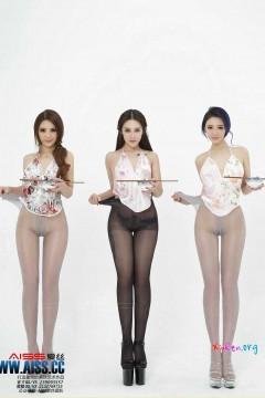 AISS爱丝 年轻技师欣阳 、索菲、陈雅漫抢眼美腿丝袜火锅大餐 60P