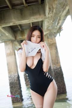 [MiStar魅妍社] 第47期 木瓜熟女模特陈欣海边镂空连体比基尼曼妙曲线艺术照 60P