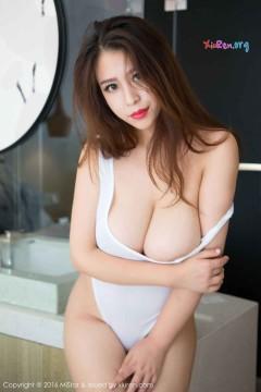 [MiStar魅妍社] 第132期 新人巨乳白嫩女郎九儿白色紧身连体性感泳装写真 60P