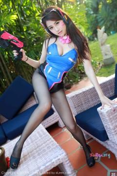 [HuaYan] VOL.024 人气私房模特许诺Sabrina美腿黑丝Cosplay靓丽组图 55P