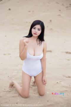 [CANDY] 第13期 大眼邻家豪乳嫩模林美惠子Mieko海滩奔放连体泳衣性感激凸火辣外拍 56P