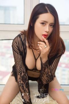 [ugirls_尤果网] 时髦曼妙外围模特刘姗姗薄纱玉腿吊带黑丝情趣内衣魅惑写真 65P