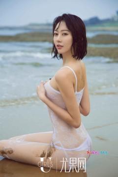 [ugirls_尤果网] 高挑九头身苗条辣模艺轩海滩湿身内衣透视写真秀 65P