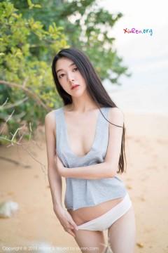 [MiStar魅妍社] 第207期 素雅邻家女生小热巴沙滩清凉睡袍极品艺术写真 40P