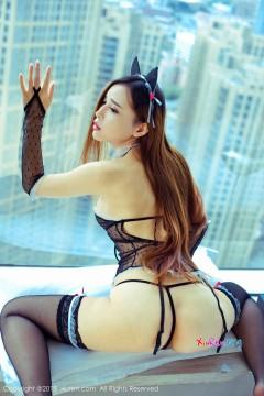 [秀人网XiuRen] N00894 妖媚骨感外围模特艾小青透视情趣兔女郎装浴室创意炫彩私拍 46P