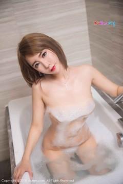 [秀人网XiuRen] N01181 灵秀短发美媛楚恬Olivia销魂全裸泡泡浴室内艺术写真 48P