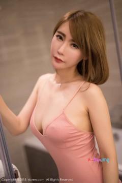 [秀人网XiuRen] N01226 短发妖媚肥臀美媛楚恬Olivia粉色连体内衣垂涎性感写真 58P