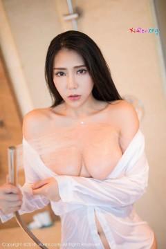 [秀人网XiuRen] N01255 极品桃乳御姐安可儿浴室湿身白衬衫诱惑惊艳写真 54P