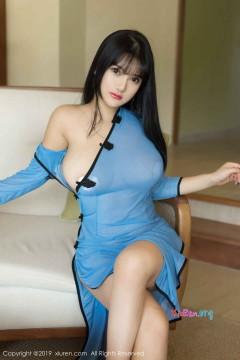 [秀人网XiuRen] N01392 风月女模小尤奈丰满爆乳诱惑情趣装豪爽激情无内黑丝写真 40P