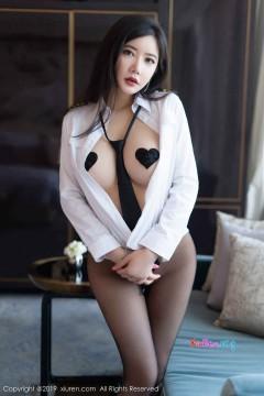 [秀人网XiuRen] N01525 肥硕丰满大胸宝贝心妍小公主无内黑丝白衬衫秀美撩人私密写真 56P