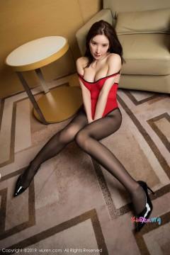 [秀人网XiuRen] N01574 抢眼热辣极品美腿嫩模周于希Sandy火红情趣内衣黑丝无内风情私拍 65P