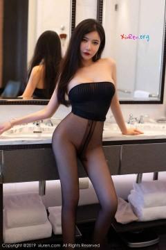 [秀人网XiuRen] N01721 狂野艳丽人体国模心妍小公主浴室大尺度无内黑丝走光写真 40P