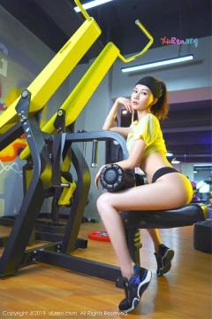 [秀人网XiuRen] N01732 翘臀美腿新人模特爱丽儿健身房优雅动人商务写真 41P