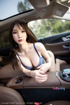 [秀人网XiuRen] N02046 浓艳红唇长发女郎周于希Sandy撩人挑逗户外创意丝袜写真 90P