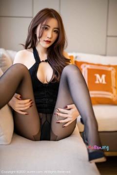 [秀人网XiuRen] N02204 撩人香肩盘发女郎绯月樱Cherry情趣黑丝短裙风情艺术私房 68P