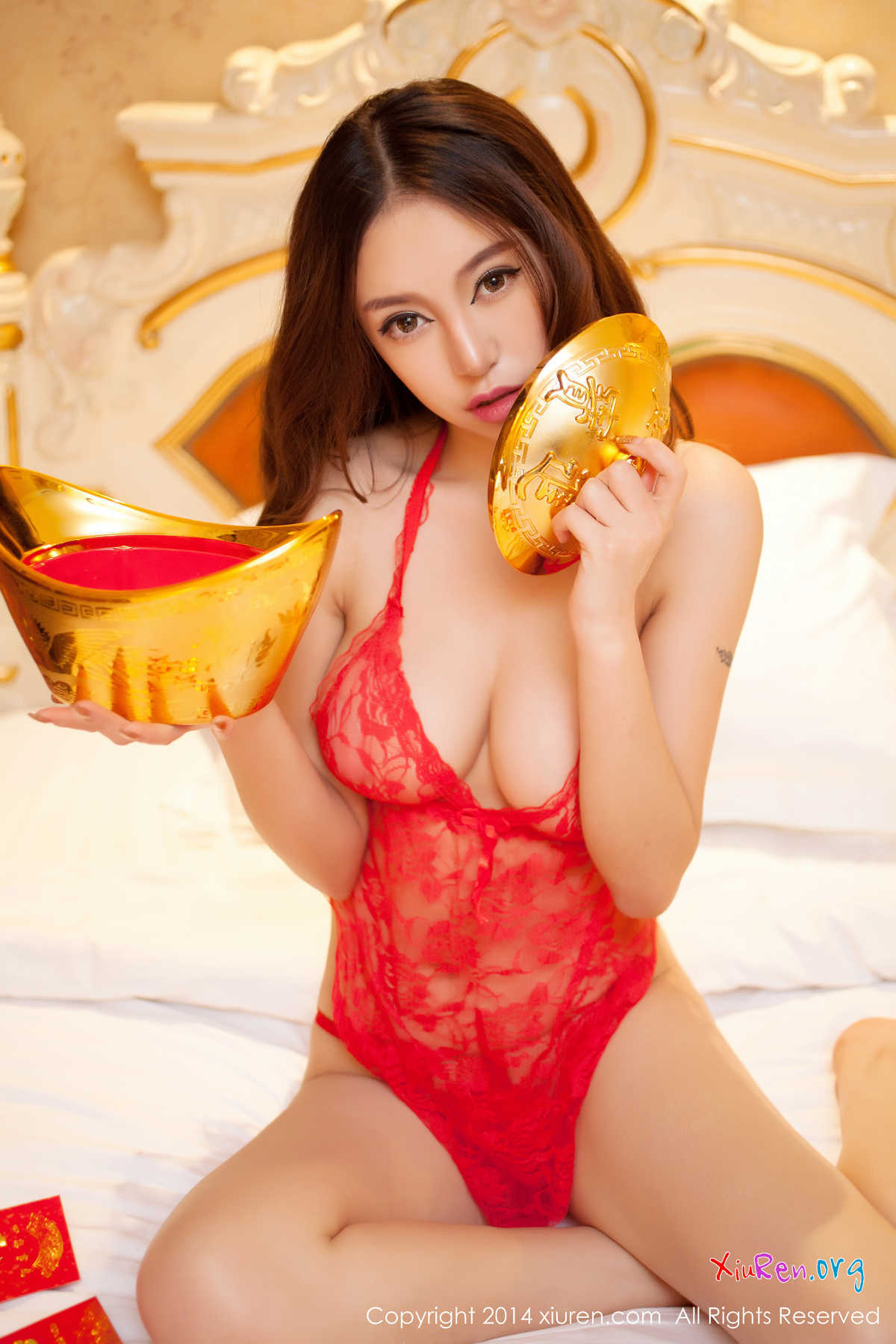 Chen Si Qi 陳思琪 | Topless Chinese New Year | XiuRen No.100 ...